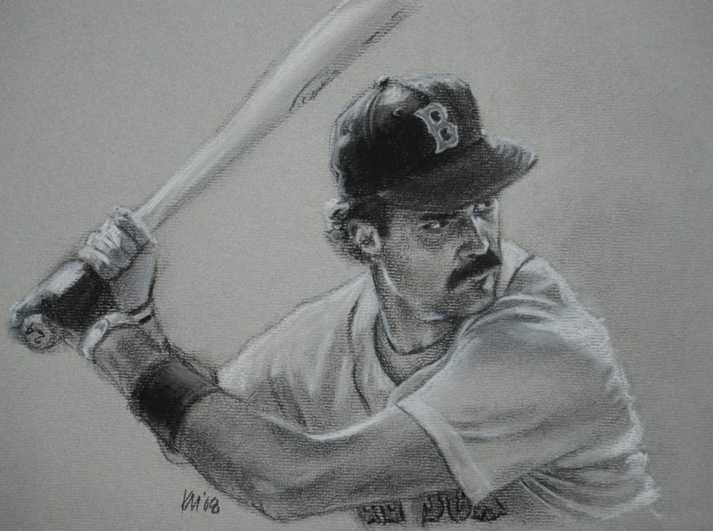 Dewey, charcoal on paper, 2008