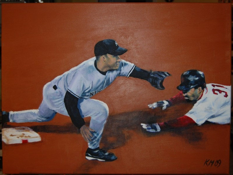 I Mean He Was Safe by Like a Foot, acrylic on canvas, 2009