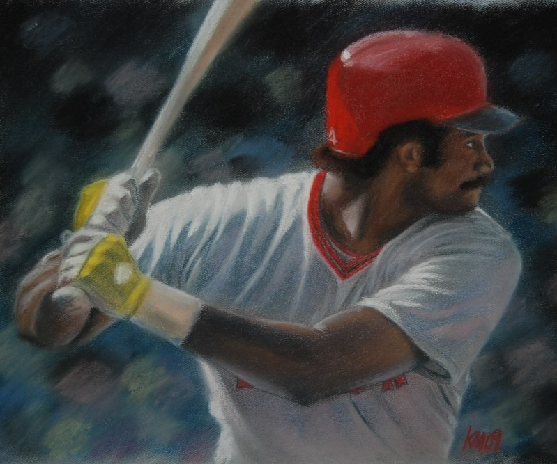 Jim Rice, color pastel on paper, 2009