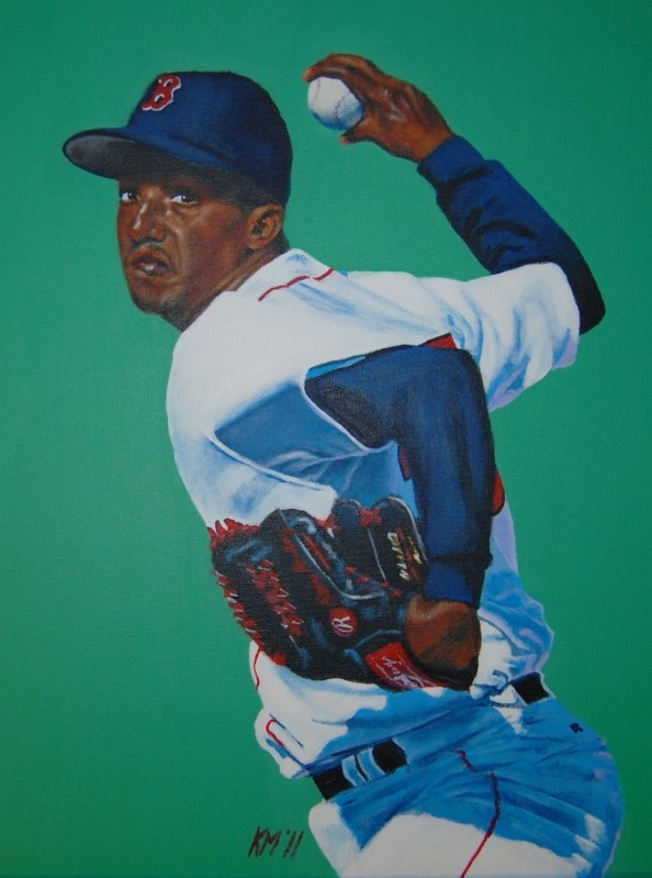 Pedro Martinez, acrylic on canvas, 2011