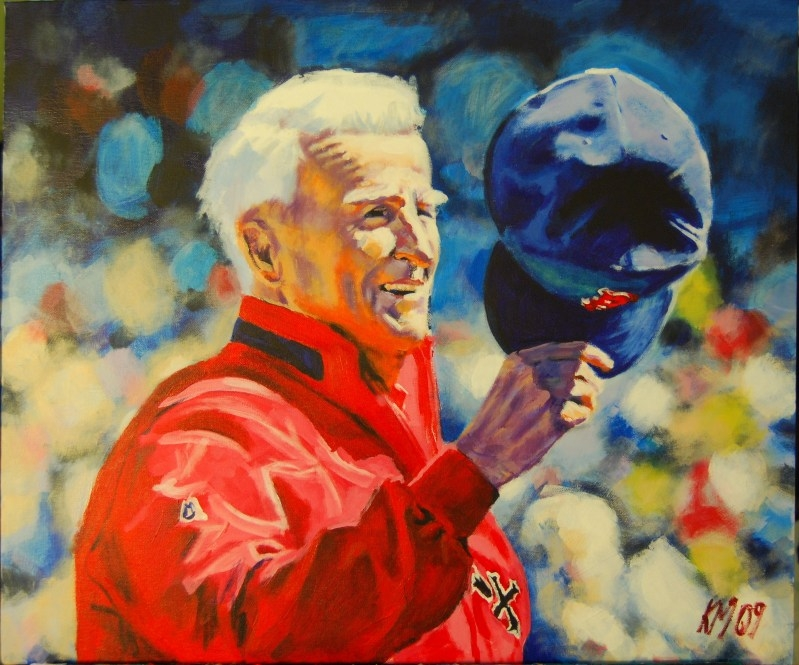 Johnny Pesky, acrylic on canvas, 2009