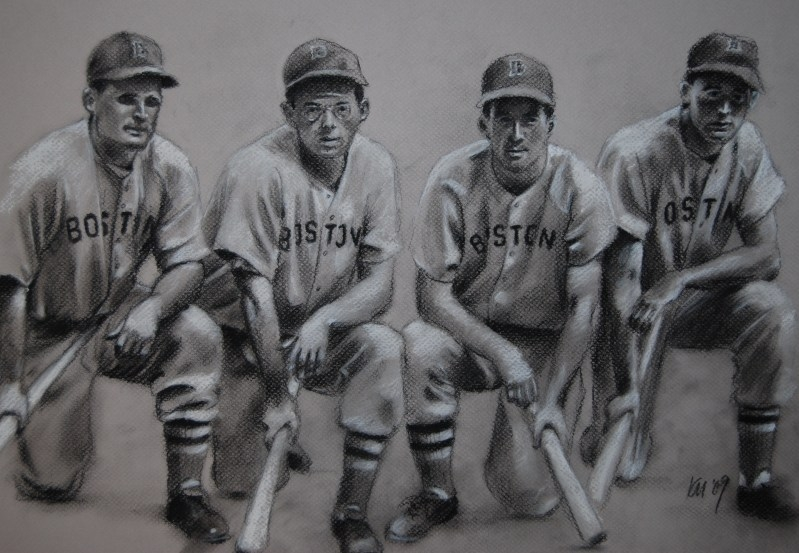 The Teammates, charcoal on paper, 2009