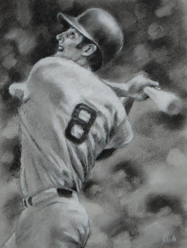 Yaz, charcoal on paper, 2010