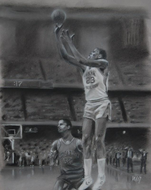 LastShot, charcoal on paper, 2009