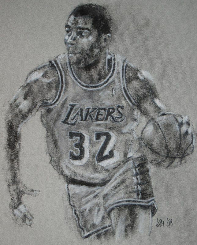 Magic, charcoal on paper, 2008