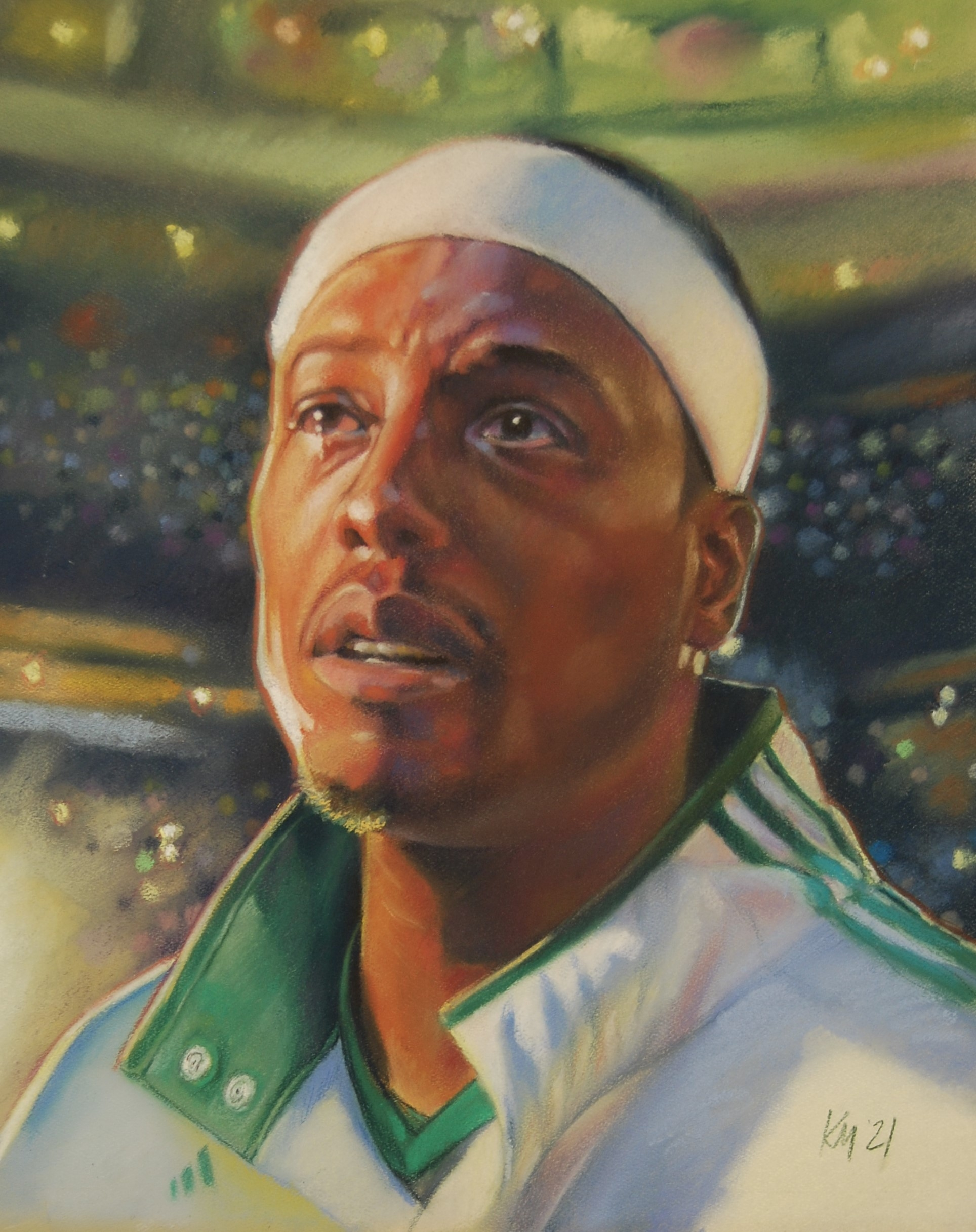 Paul Pierce  Looking Upon Banner 17, color pastel on paper, 2021