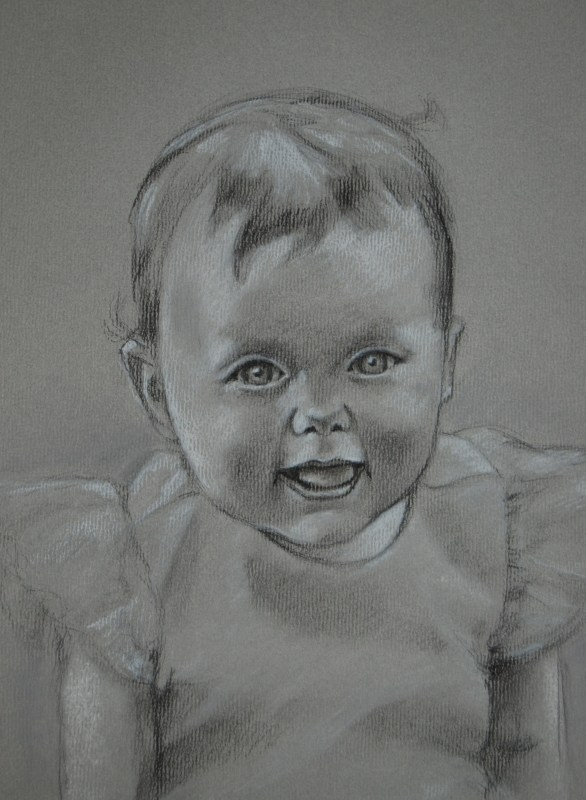 Brooke, charcoal on paper, 2009