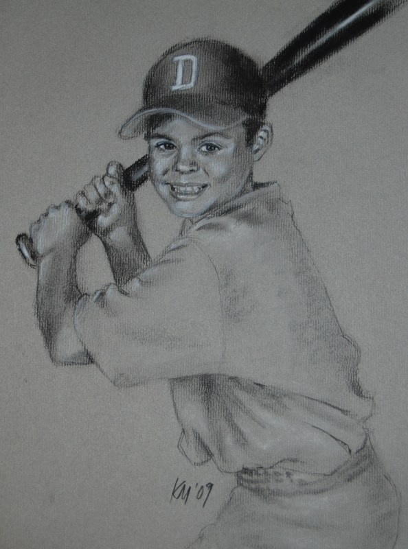 Jameson, charcoal on paper, 2009