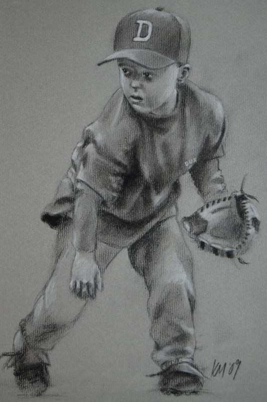 Kyle, charcoal on paper, 2009
