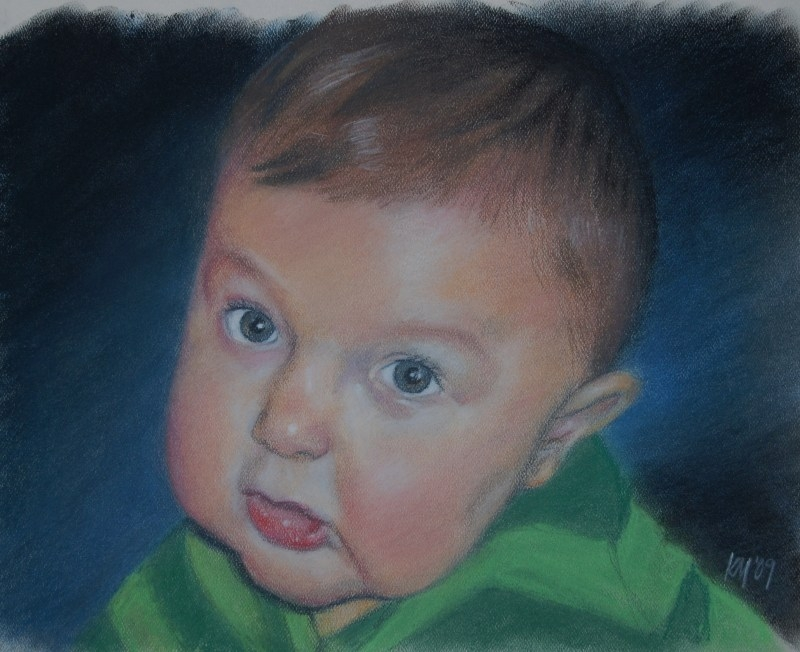 Matthew, color pastel on paper, 2009