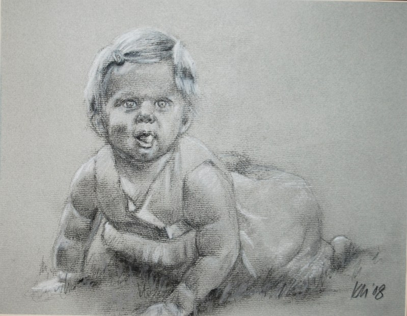 Riley, charcoal on paper, 2008