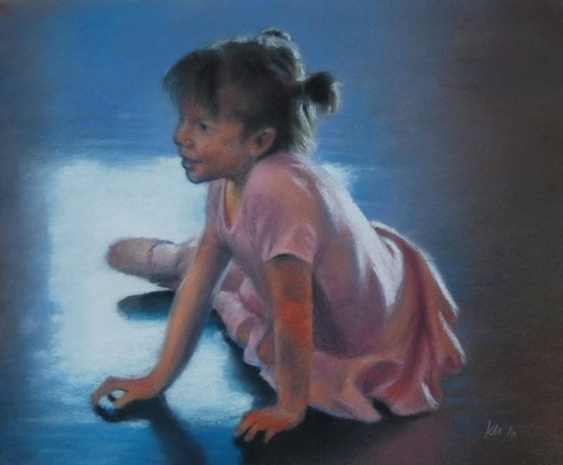 Tiny Dancer, color pastel on paper, 2010