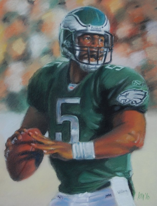 Donovan McNabb, color pastel on paper, 2010