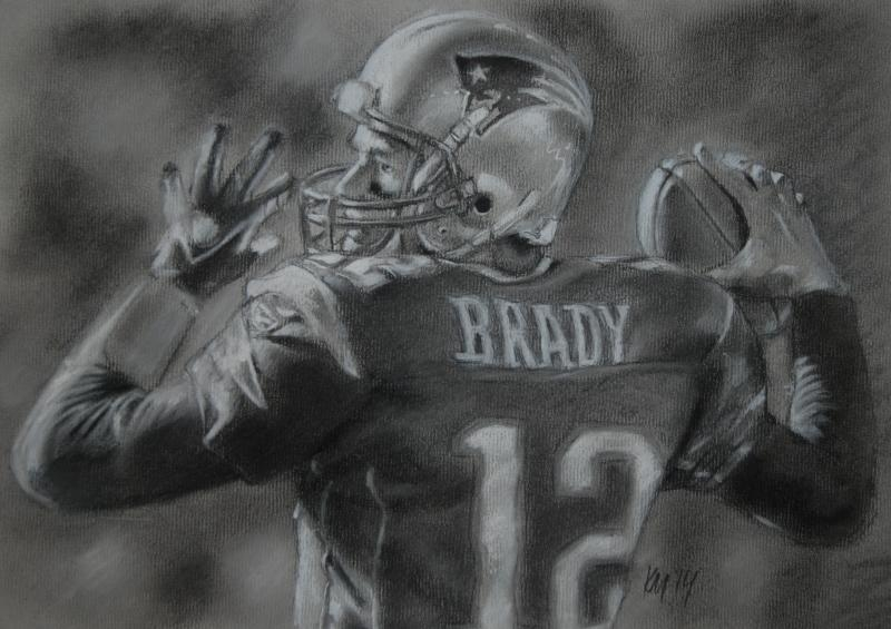Brady, charcoal on paper, 2014