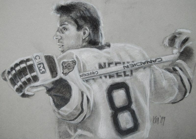 Cam, charcoal on paper, 2009