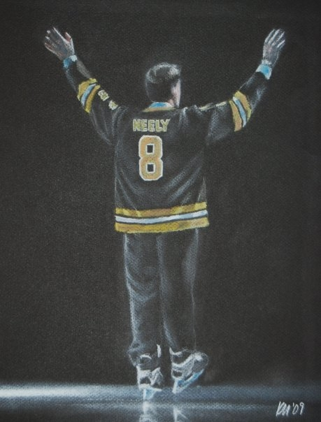 To the Rafters, color pastel on paper, 2009