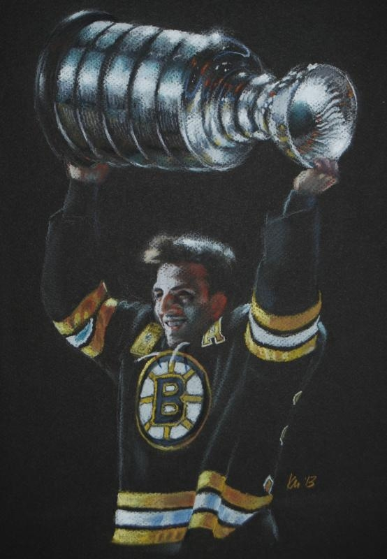 Bergy, color pastel on paper, 2013