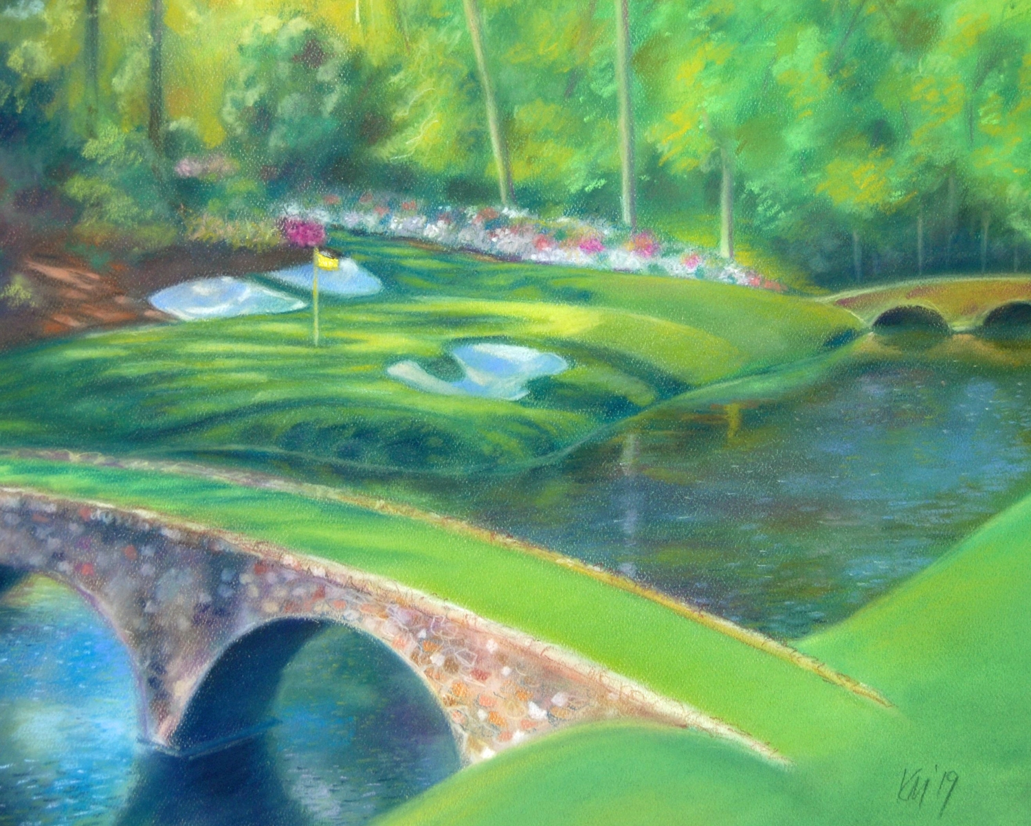 Amen Corner, color pastel on paper, 2019