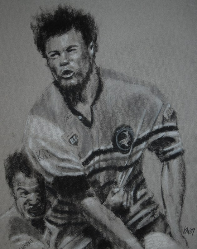 Andrew Ettinghausen, charcoal on paper, 2009