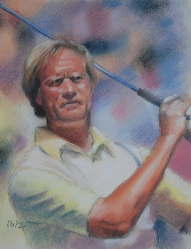 The Golden Bear, color pastel on paper, 2012